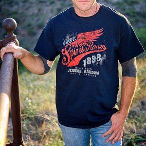 men's spirit room t-shirt front logo only